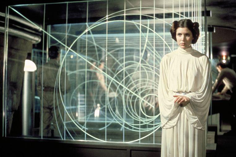 Carrie Fisher als Prinses Leia. Beeld BELGAIMAGE