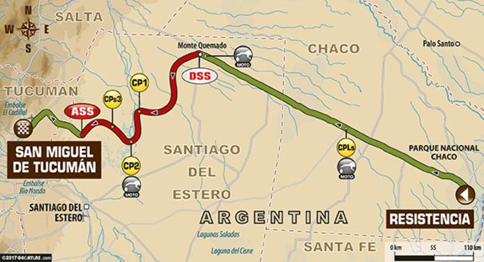 De tweede etappe van Dakar17