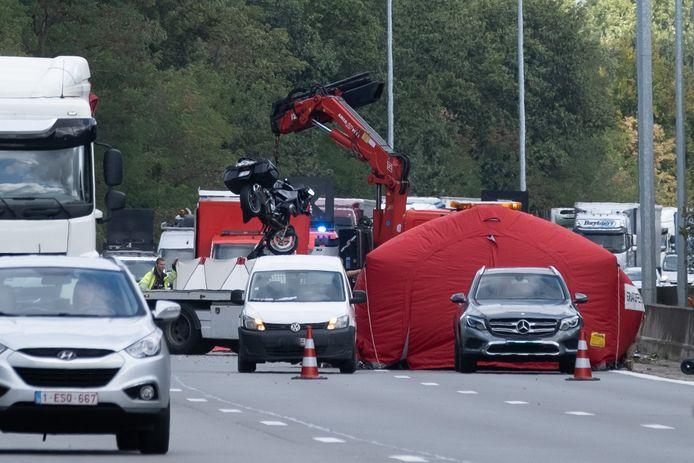 Beeld ter illustratie: een ongeval met een motorrijder op de E19.