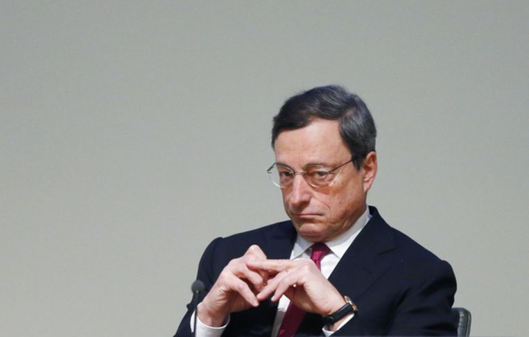 President Mario Draghi van de Europese Centrale Bank. Beeld Reuters