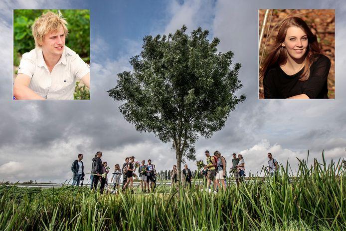 Jaarlijkse herdenking van de negen jaar geleden omgekomen tieners Tara en Tom.