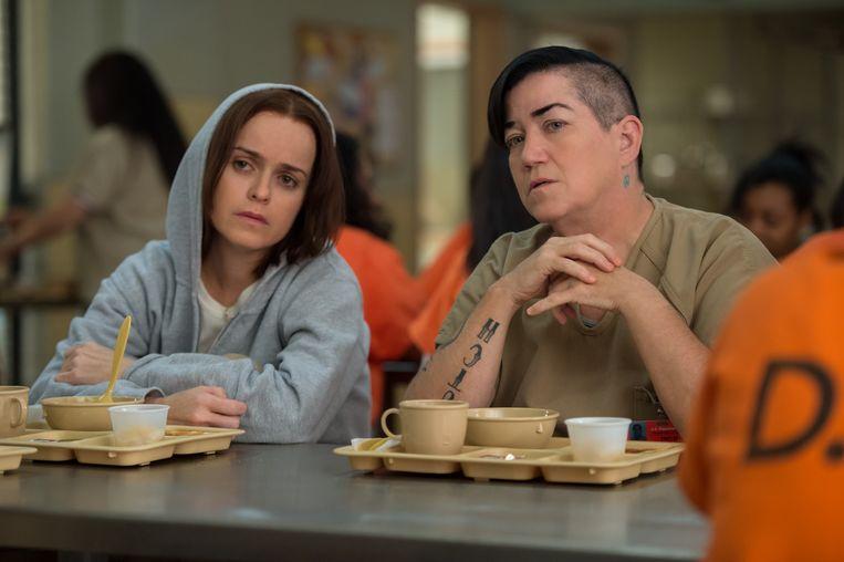 Comdedy/dramaserie Orange is the New Black, over een vrouwengevangenis.  Beeld rv Netflix