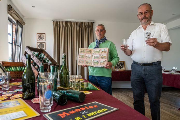Willy Van Den Branden (l.) en Francois Joos houden de tentoonstelling in bakkerij Mariman.