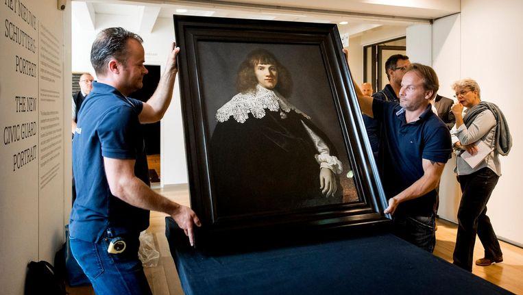 Het doek, dat vermoedelijk uit 1634 dateert, is nog tot 15 juni te zien in de Hermitage. Beeld anp