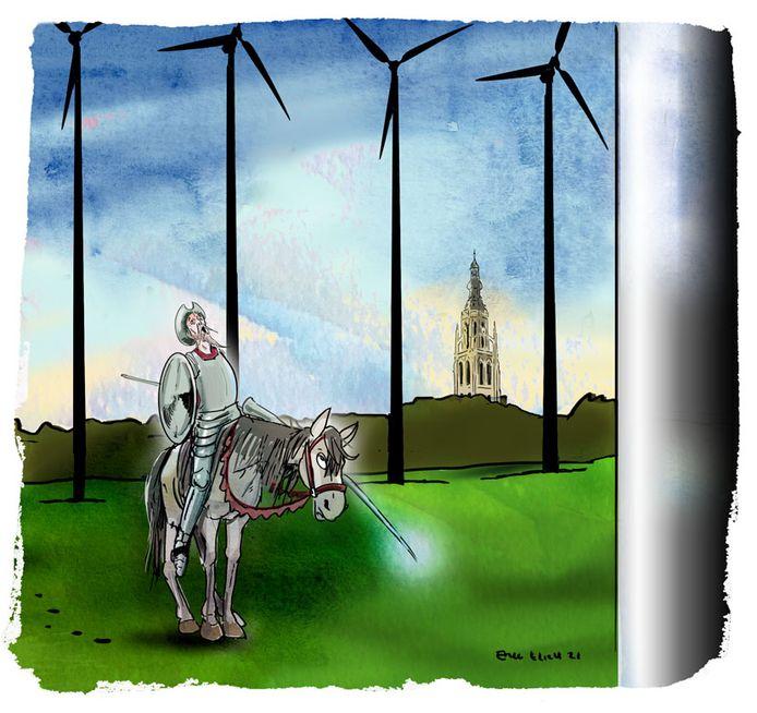Er verschijnen steeds meer windmolens in het Nederlandse landschap en ze worden ook steeds hoger. Tot ergernis van velen.