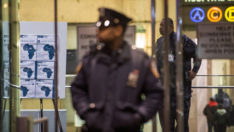 Bellevue Hospital Center, where the first person in the city to test positive for Ebola has been quarantined. Beeld Joshua Bright for The New York Times