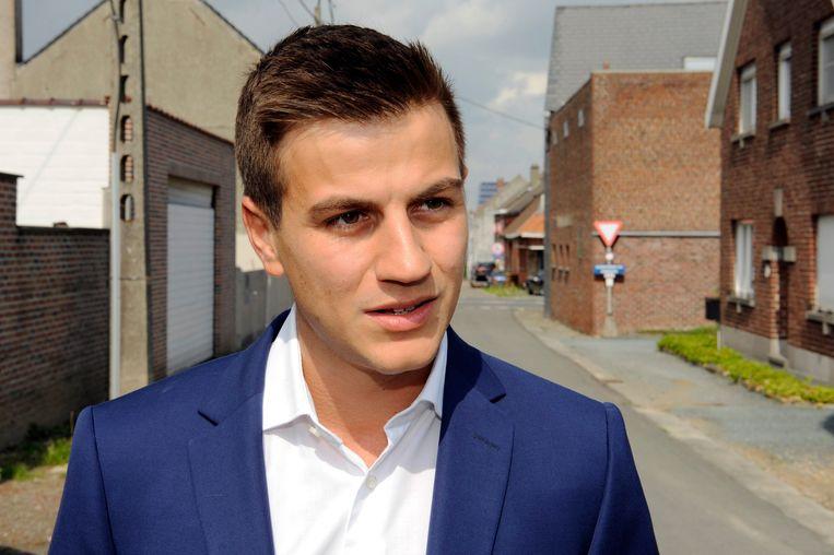 Dries Van Langenhove van jongerenbeweging Schild en Vrienden. Beeld Photo News