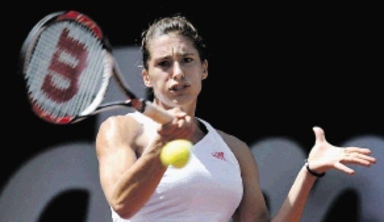 De Duitse Petkovic wint in Bad Gastein haar eerste tennistitel. ( FOTO AFP) Beeld AFP