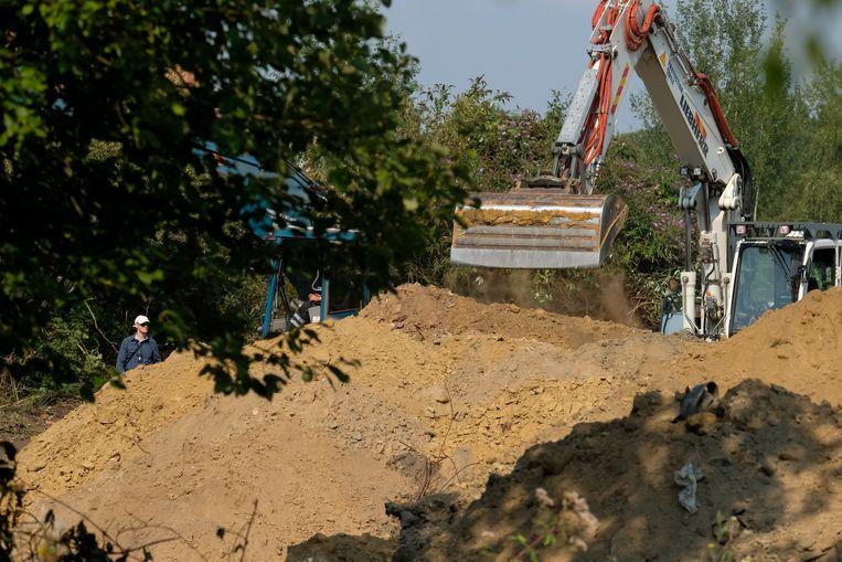 De opgravingen in de omgeving van Brussel hebben niets opgeleverd. Beeld BELGA