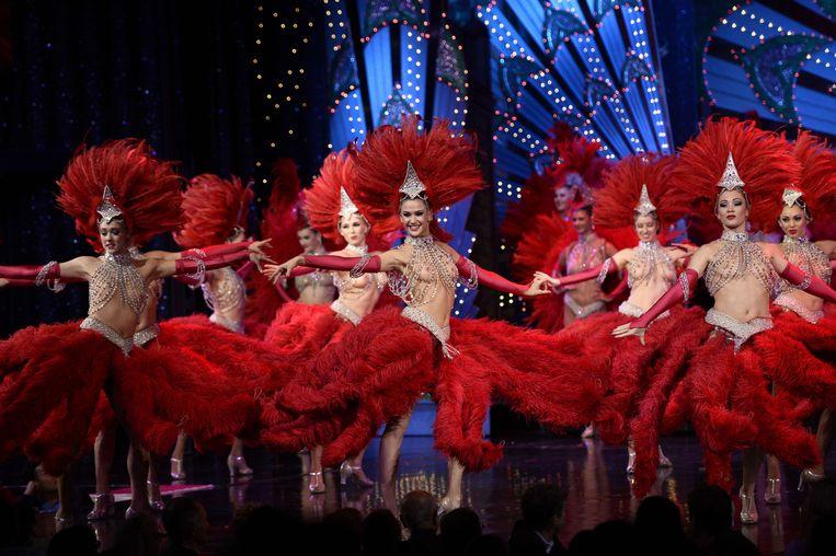 In plaats van een Las Vegas aan het IJ zien Linda Duits en Jennifer Hopelezz  veel liever een soort Moulin Rouge verrijzen. Beeld AFP