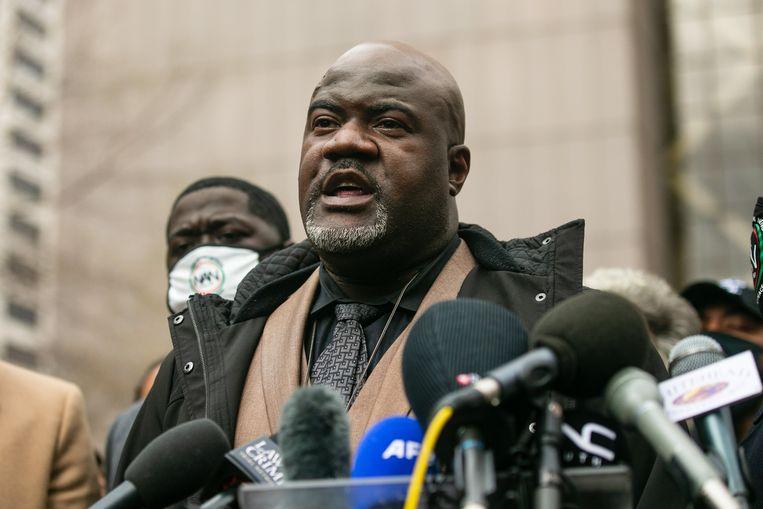 Philonise Floyd, de broer van George Floyd na het vonnis. Beeld Photo News
