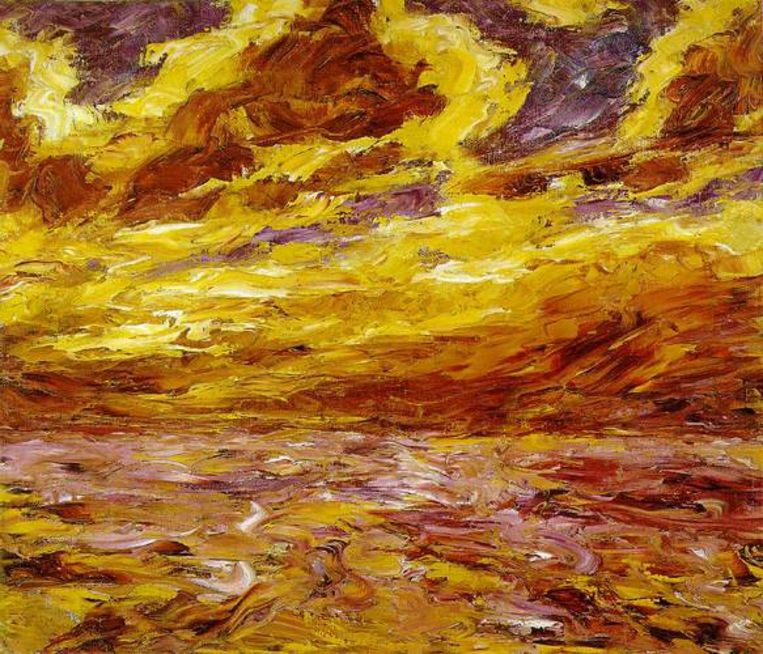 Werk van Emil Nolde, Autumn Sea VII. 1910, Oil on canvas, 60 x 70 cm. Beeld