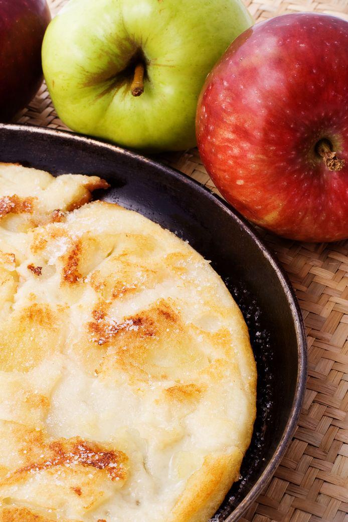 Normandische pannenkoek met appels