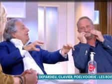 L'incontrôlable fou rire de Benoît Poelvoorde et Christian Clavier à cause de Gérard Depardieu