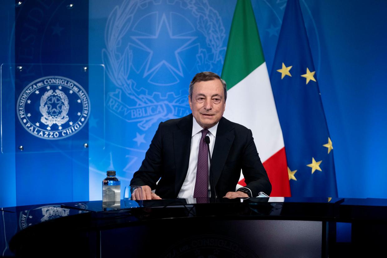 Mario Draghi trad in februari aan als premier van Italië. Beeld EPA
