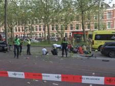 Twee gewonden en grote ravage na ongeluk Loosduinseweg