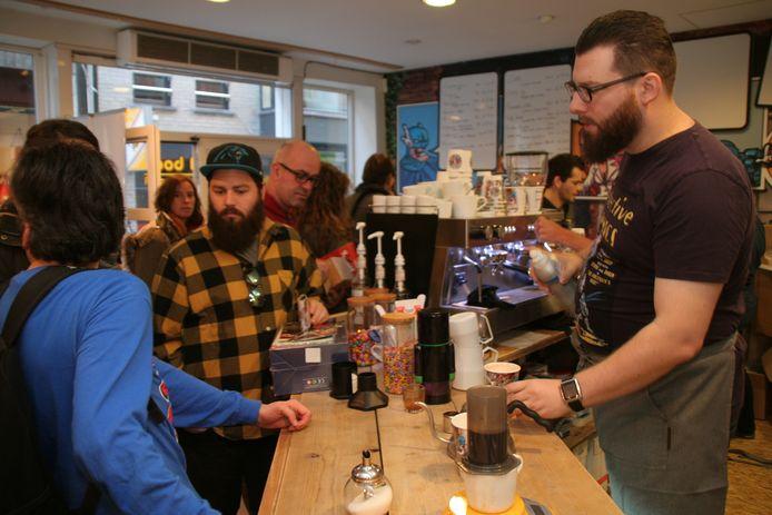 Brainfreeze Coffee & Comics in de Nieuwstraat.