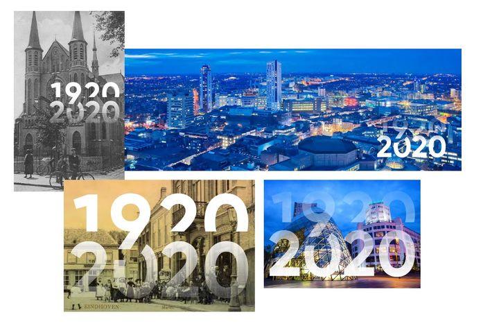 Logo Eindhoven 100 jaar 1920-2020