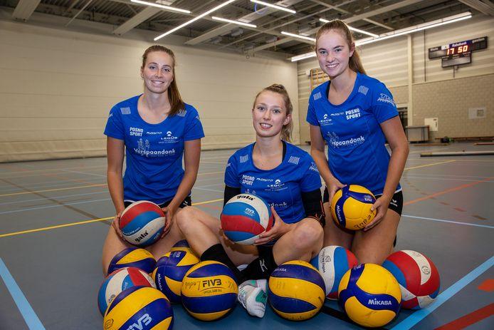 V.l.n.r. Laura Heuvelmans, Nikki Wouters en Lynn Rademaekers van Ledûb.