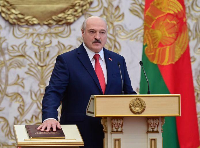 Alexandr Loekasjenko, de zeer omstreden president van Wit-Rusland.