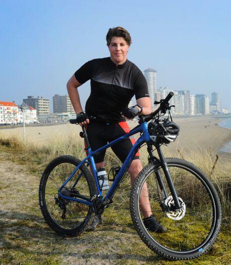 Nu de zon terug is, heeft de mountainbikende waterpoloër Jarno de Jonge weer motivatie