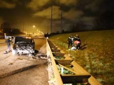 A4 bij Schipluiden urenlang dicht door ongeluk: gewonde en aanhouding