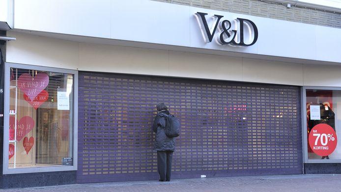 De V&D aan de Utrechtsestraat bleef maandag dicht.