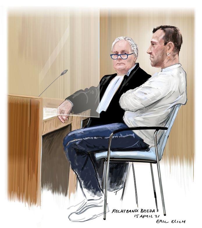 Verdachte J. in de rechtbank.