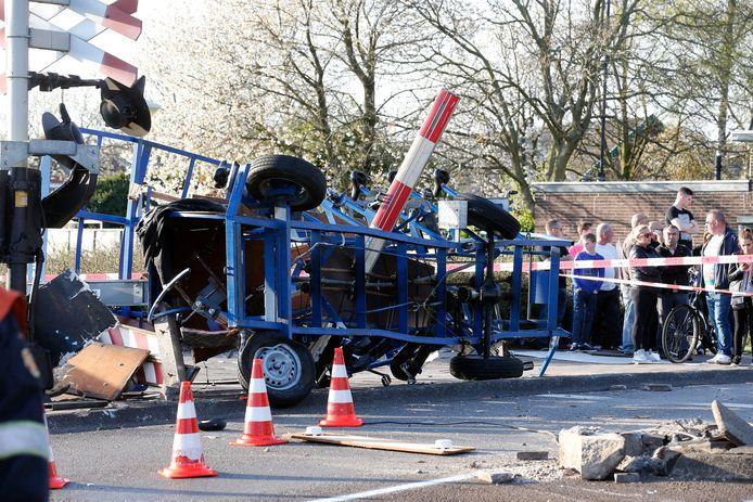 In 2015 botste de bierfiets op een trein bij een spoorwegovergang in Eindhoven.