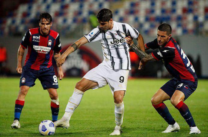 Alvaro Morata van Juventus maakte de gelijkmaker. Zijn winnende treffer werd afgekeurd vanwege buitenspel.