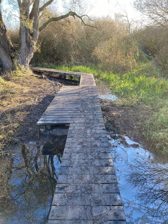 Door de uitwijkstroken wordt kruisen extra gemakkelijk op het nieuwe pad.