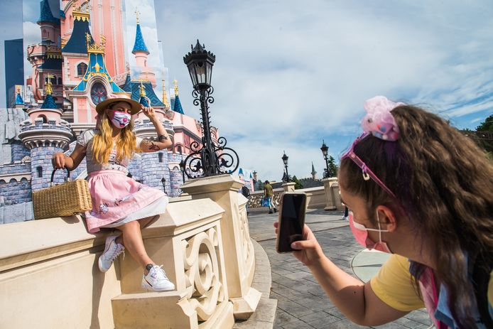 Disneyland Paris, ce 17 juin.