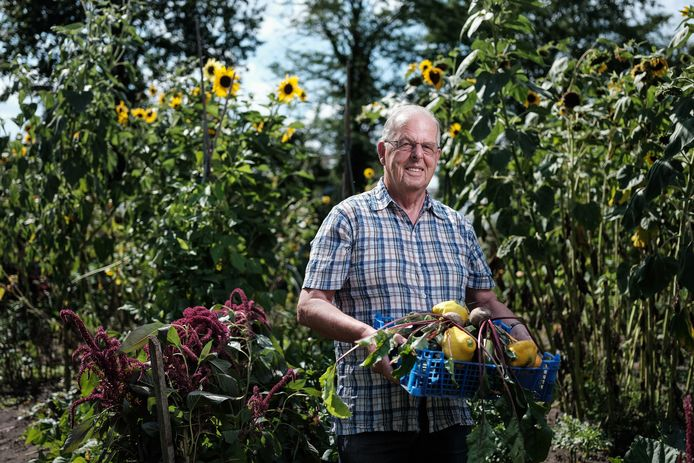 Ben Woordes, vijf jaar geleden initiatiefnemer van de inzameling groenten voedselbank.