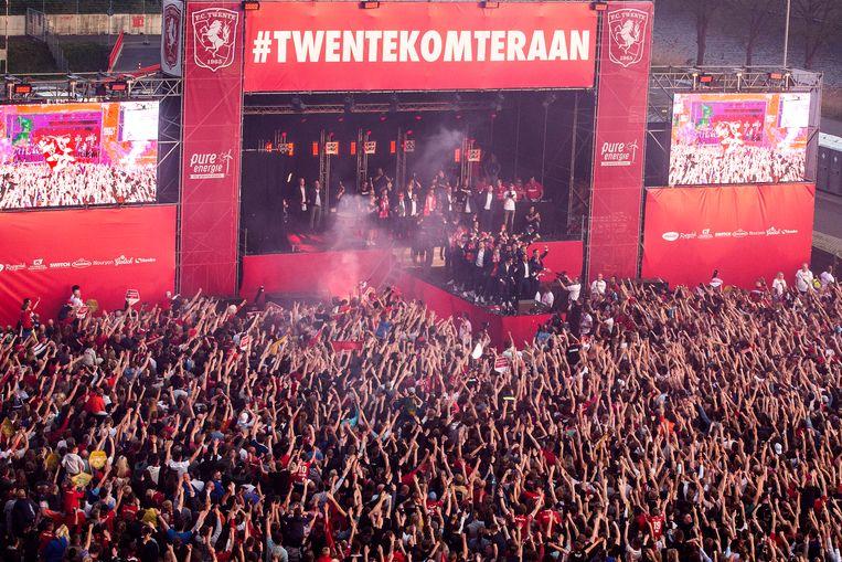 FC Twente werd dit jaar kampioen in de Keuken Kampioen Divisie en keert volgend jaar terug in de eredivisie. Beeld ANP