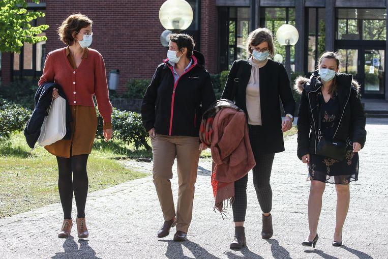 Het team deskundigen van het NICC. Vlnr. Kyra Lunstroot, Sofie Vanpoucke, Charlotte Aelbrecht en Karolien Van Dyck. Beeld Photo News