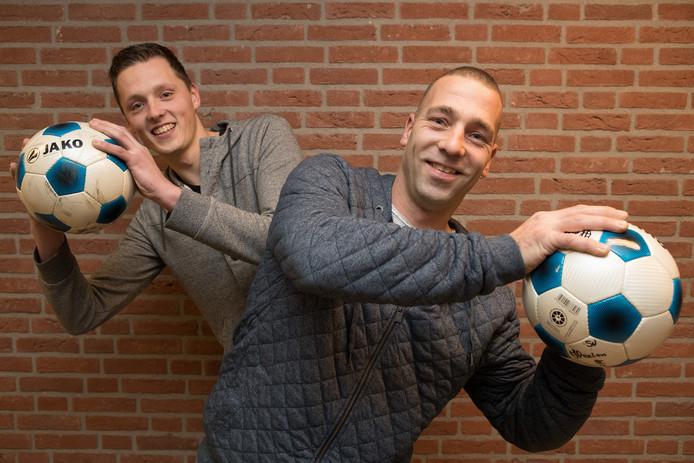 Ruben Tepperik en Bjorn Lokate vechten woensdag een duel uit wie van de twee zich de beste doelman van de familie mag noemen.
