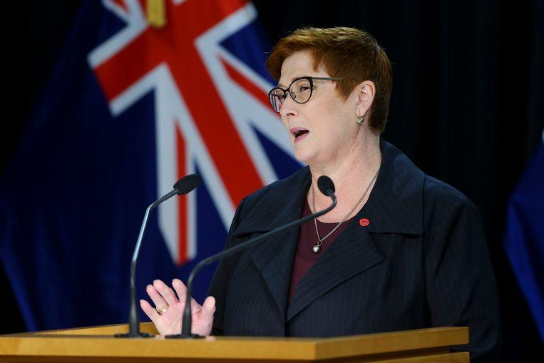 De Australische minister van buitenlandse zaken, Marise Payne, schrapt de plannen met China.   Beeld Getty Images