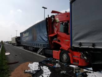 Zes vrachtwagens betrokken bij kleine kettingbotsing op E17 richting Antwerpen
