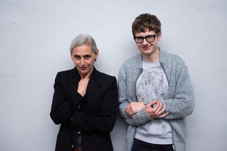 Anne Teresa De Keersmaeker en pianist Pavel Kolesnikov. Beeld ANNE VAN AERSCHOT