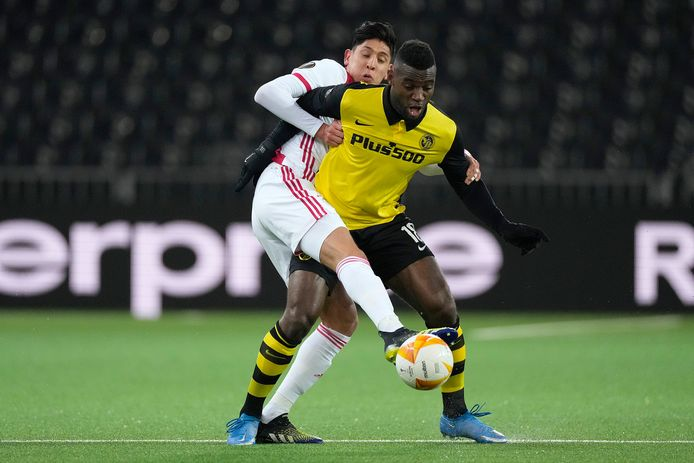 Jean Pierre Nsame in de wedstrijd tegen Ajax in de Europa League.