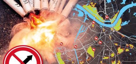 Nijmegen krijgt vuurwerkvrije gebieden, maar controleert niet