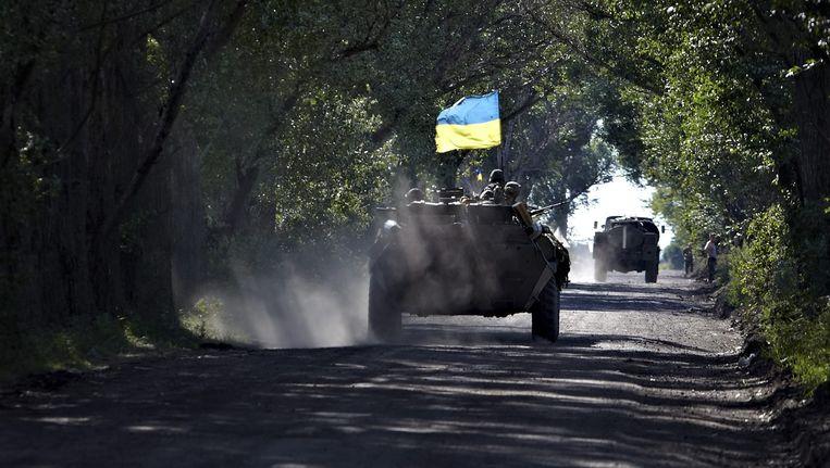 De gevechten rondom Donesk zijn al lange tijd aan de gang, maar escaleren nu weer. Beeld ANP