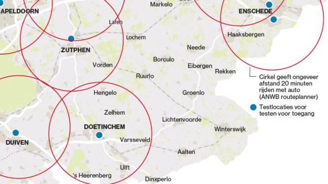 Oost-Achterhoek blinde vlek voor gratis coronatest: 'Je bent uren kwijt'