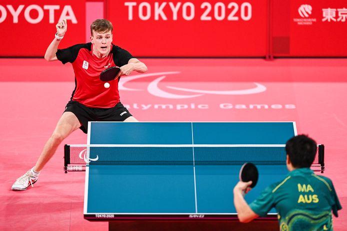 Laurens Devos face à l'Australien Lin Ma en finale