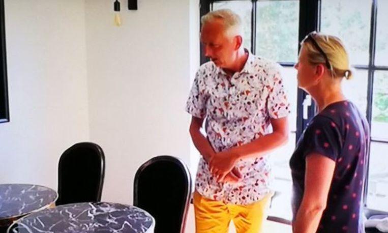 Martiens nieuwe eettafel in Chateau Meiland. Beeld Screenshot aflevering 'Chateau Meiland'