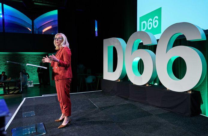 D66 minister Sigrid Kaag in september tijdens de presentatie van het conceptverkiezingsprogramma van haar partij.