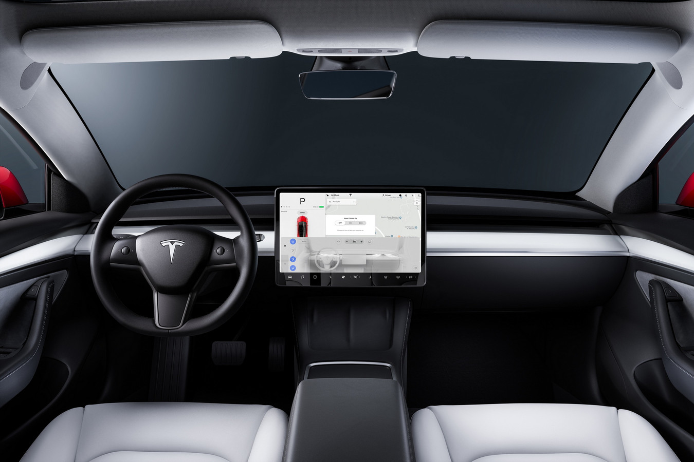 Dashboard Tesla Model 3.