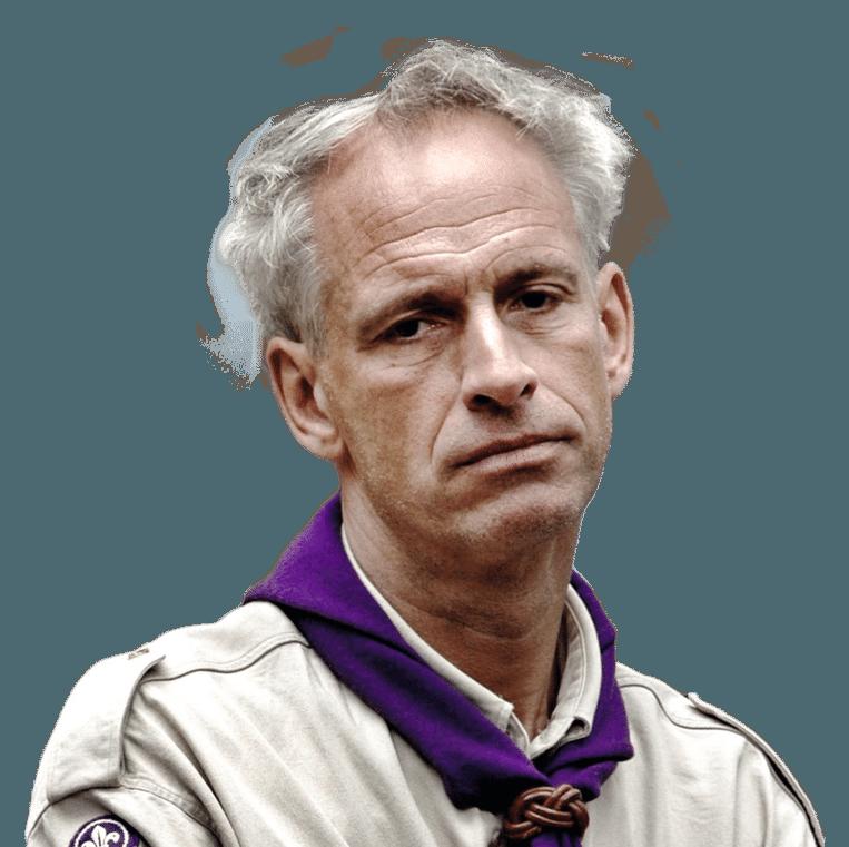 Jan Van Reusel van Scouts en Gidsen Vlaanderen. Beeld dm