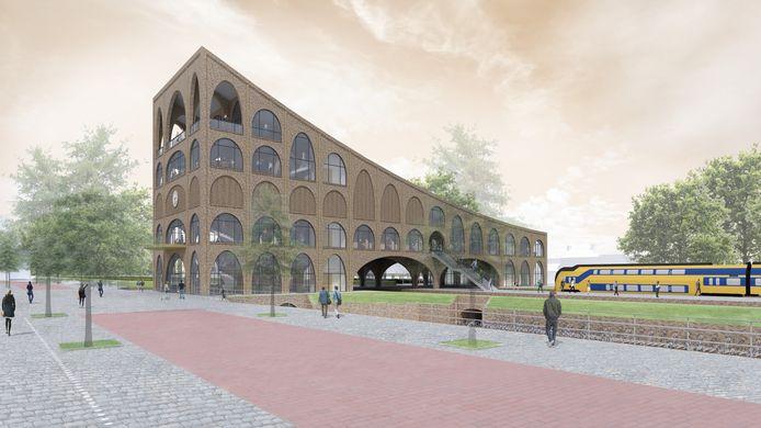 Het station Bergen op Zoom volgens architect Mark Maasdam