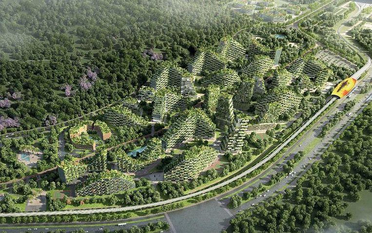 Forest City. Beeld Stefano Boeri Architetti